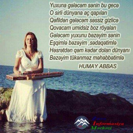 Humay Abbas: Göz yaşınam, sil məni!...