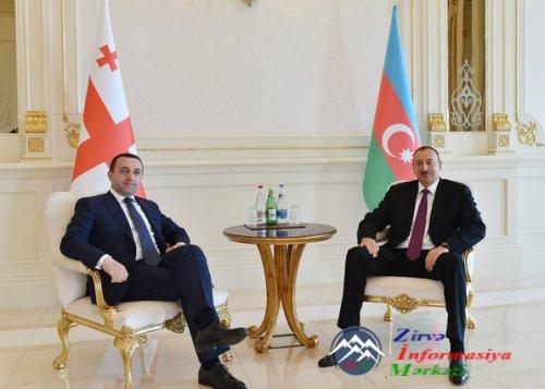 İlham Əliyev Gürcüstanın Baş nazirini qəbul edib