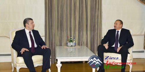 İlham Əliyev Gürcüstanın Baş nazirinin müavini, xarici işlər nazirini qəbul edib