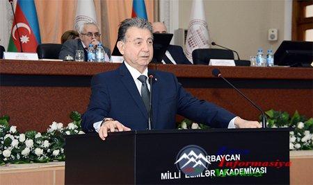 AMEA Rəyasət Heyətinin geniş iclasında Prezident İlham Əliyevin irəli sürdü ...