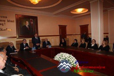 BDU-da ümummilli lider Heydər Əliyevin anım günü ilə əlaqədar tədbir keçirilib