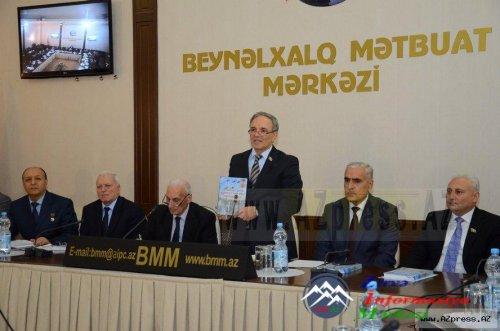 """""""Heydər Əliyev və Azərbaycanın milli qəhrəmanları"""" kitabının təqdimat məras ..."""