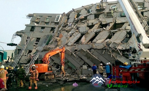 Tayvanda 6,4 ballıq güclü ZƏLZƏLƏ - Binalar uçdu, ölənlər var...