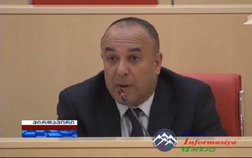 Gürcüstan parlamentində azərbaycanlı deputat Azər SÜLEYMANOV erməni separat ...