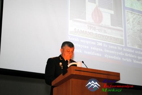 Silahlı Qüvvələrin Hərbi Akademiyasında Xocalı soyqırımı anılıb