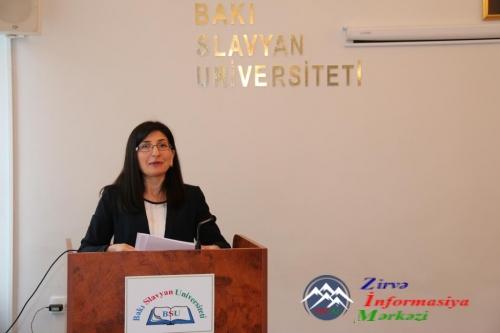 """MDB PAA DİMBİ Bakı filialı BSU ilə birlikdə """"Demokratik dövlətin inkişafında KİV-in rolu"""" adlı tədbir keçirmişdir"""