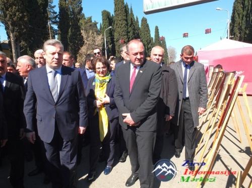 Gürcüstan Prezidenti və Baş naziri Marneulidə keçirilən Novruz şənliklərind ...