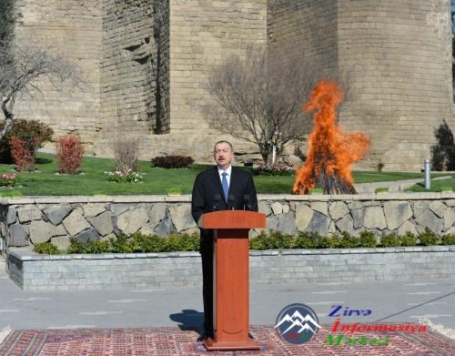 Prezident İlham Əliyev Novruz bayramı münasibətilə ümumxalq şənliyində iştirak edib