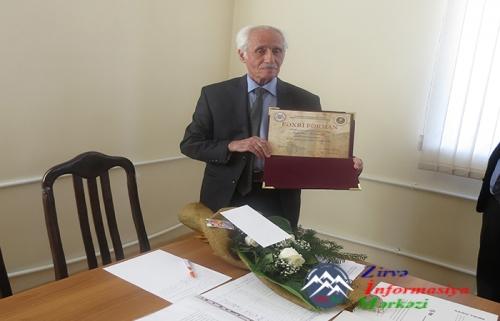 Tanınmış xəttat Seyfəddin Məsimoğlunun 80 illik yubileyi qeyd olunub