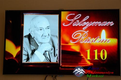 Xalq şairi Süleyman Rüstəmin 110 illik yubileyi