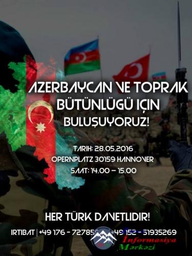 Azərbaycanlılar Almaniyada mitinq keçirib