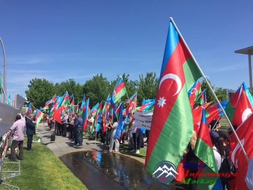 Berlində Azərbaycan diaspor təşkilatlarının birgə aksiyası keçirilib