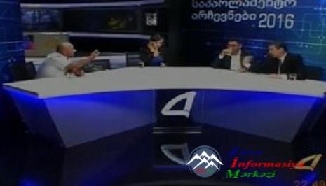 Gürcü və azərbaycanlı deputatlığa namizədlər canlı yayımda dalaşdı… VİDEO-- ...