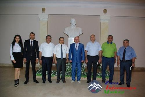 Ukrayna Dəmiryol Akademiyasının rektoru AzTU-da olub