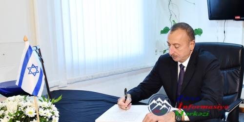 İlham Əliyev İsrail Dövlətinin keçmiş Prezidenti Şimon Peresin vəfatı ilə əlaqədar başsağlığı verib