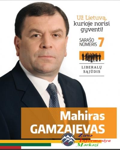 Diaspor rəhbəri Litvada deputatlığa namizədliyini irəli sürüb
