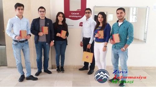 Nar mobile şirkətinin Azərbaycan Texniki Universitetində tələbələr ilə görü ...