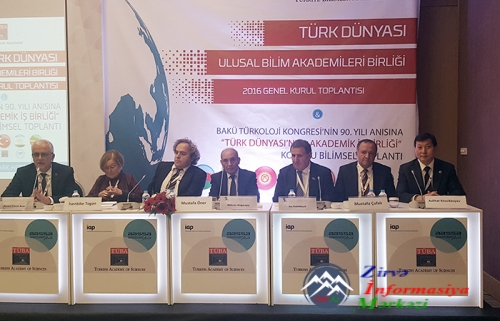 AMEA-nın vitse prezidenti Türkiyədə Birinci Türkoloji Qurultayın 90 illiyinə həsr olunan beynəlxalq konfransda iştirak edib