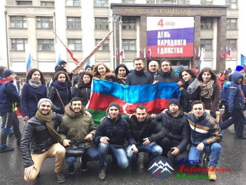 Azərbaycan diasporu Xalq birliyi paradında iştirak edib