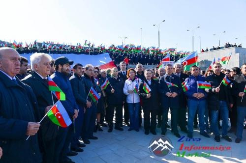 """Dövlət Bayrağı Günü ilə əlaqədar """"Bayraq yürüşü"""" - 2016"""