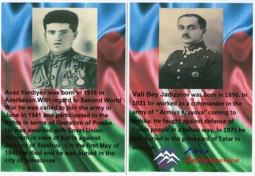 """""""Polşada Azərbaycan qəhrəmanları"""" adlı kitabça nəşr edilib"""