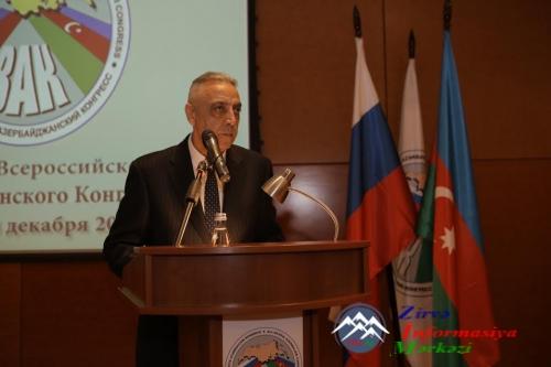 Ümumrusiya Azərbaycan Konqresinin yeni prezidenti seçilib