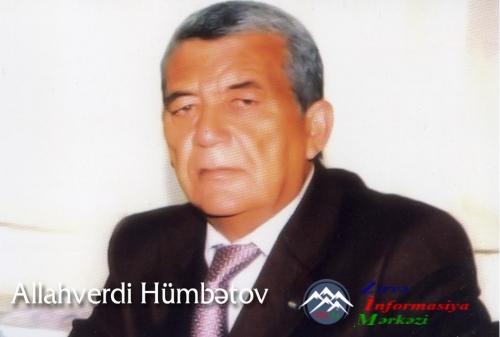 Borçalının el ağsaqqalı, tanınmış ictimai-siyasi xadim ALLAHVERDİ HÜMBƏTOV  ...