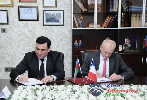 ADNSU ilə Frasanın Strasburq və Ren 1 universitetləri arasında pedaqoji və maliyyə müqavilələri imzalanıb