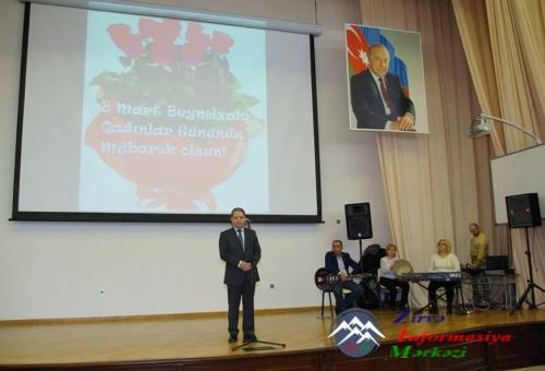 AzTU-da 8 Mart - Beynəlxalq Qadınlar Günü münasibətilə bayram tədbiri keçir ...