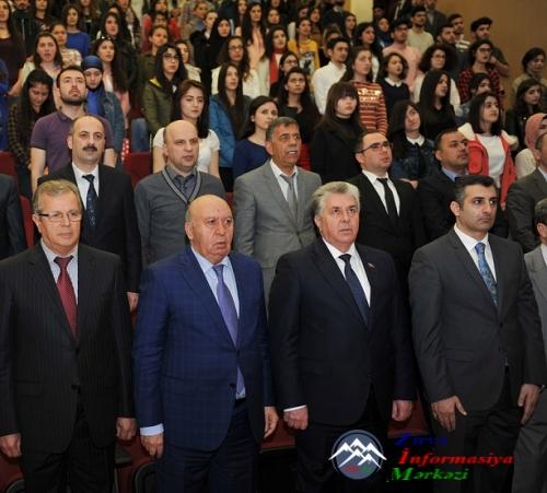 """Bakı Mühəndislik Universitetində  """"31 Mart Soyqırımı"""" ilə əlaqədar olaraq tədbir keçirilib"""