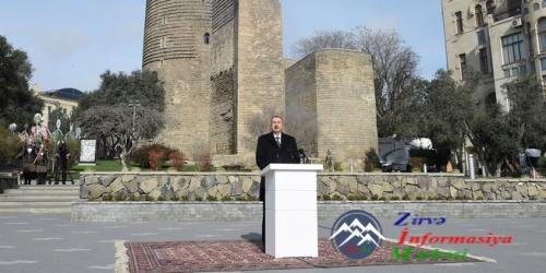 İlham Əliyev Novruz bayramı münasibətilə ümumxalq şənliyində iştirak edib