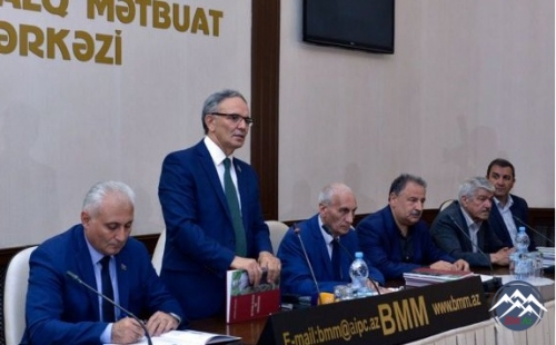 """Şahismayıl Şəmmədoğlunun """"Heydər Əliyev və Gürcüstan"""" kitabının təqdimatı o ..."""