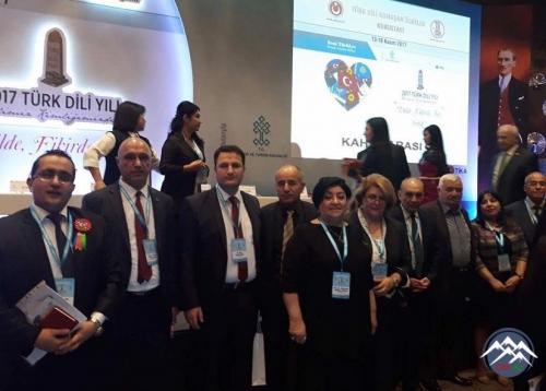 Dilçilik İnstitutunun bir qrup əməkdaşı dünyanın 5 qitəsində danışılan dil - Türk Dili Qurultayında iştirak edib