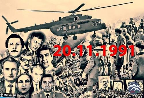 """Qarakənd kəndi üzərində """"Mi-8"""" vertolyotunun ermənilər tərəfindən vurulmasından 26 il ötür"""