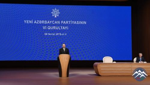 Bakıda Yeni Azərbaycan Partiyasının VI qurultayı keçirilib
