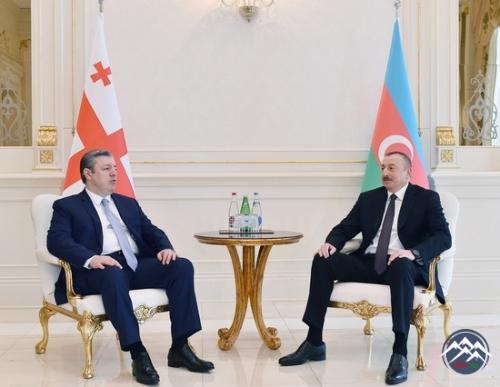 İlham Əliyev Gürcüstanın Baş naziri ilə görüşüb