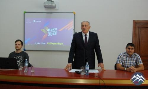 """AzTU-da """"Bakı Marafonu 2018""""-in təqdimatı keçirilib"""