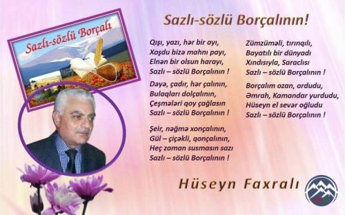 Hüseyn Faxralı: SAZLI-SÖZLÜ BORÇALININ!..