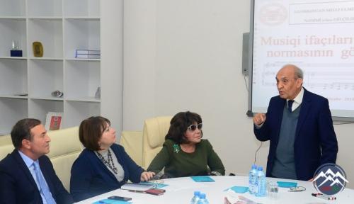 """""""Musiqi ifaçıları və ədəbi dil normalarının gözlənilməsi"""" mövzusunda konfransı keçirilib"""