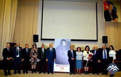AzTU-da Mikayıl Müşfiqin 110 illiyi qeyd olunub