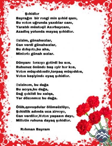 RUHUNUZ ŞAD OLSUN, ŞƏHİDLƏRİMİZ!..