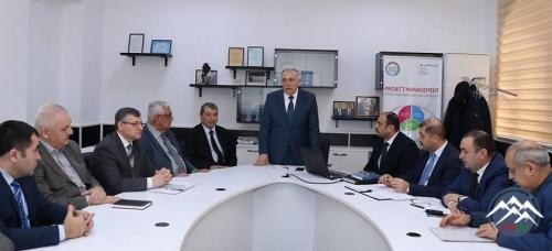 """""""Azərkosmos"""" ASC-nin nümayəndələri ilə Azərbaycan Texniki Universitetində o ..."""