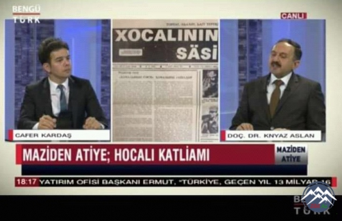 BDU-nun kafedra müdiri, Qarabağ qazisi Knyaz Aslan  Türkiyə televiziyasında Xocalı qətliamından danışdı