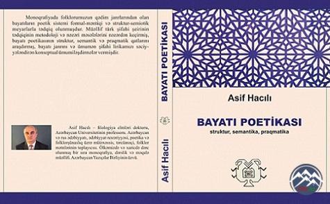 Professor Asif Hacılının yeni monoqrafiyası dərc olunub