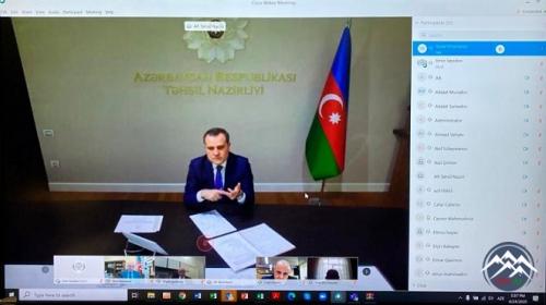 Təhsil naziri rektorlarla videokonfrans keçirib