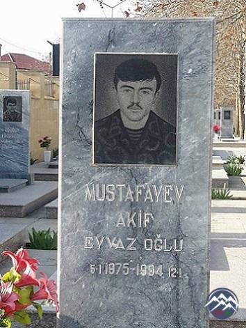 ŞƏHİD AKİF EYVAZ oğlu MUSTAFAYEV YIRĞANÇAYLI  (1975-1994)