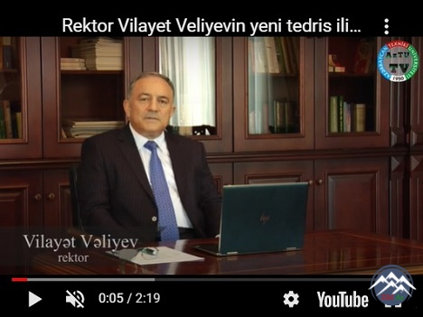 AzTU-nun rektoru müəllim və tələbələri videoformatda təbrik etdi