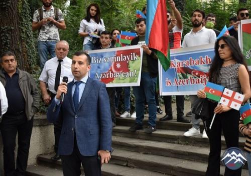 Gürcüstanda yaşayan soydaşlarımız Azərbaycana dəstək aksiyası keçiriblər